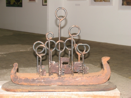 Ahmad Canaan's sculpture titled 'Refugees' has both specific and universal meaning.