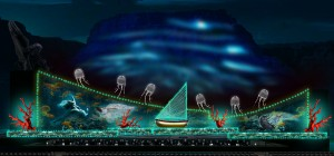 The underwater scene from Carmina Burana to be staged at Masada in June. (Photo courtesy of the Israeli Opera)